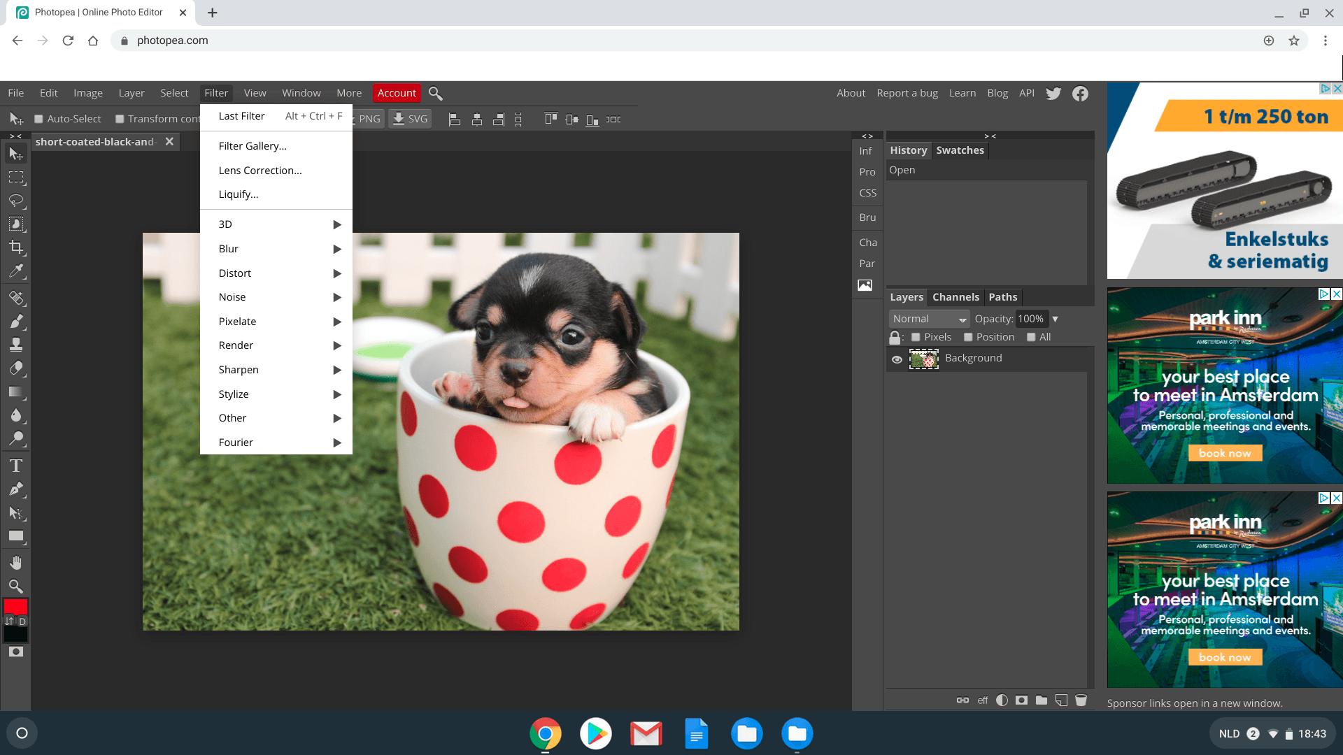photopea chromebook foto bewerken - programmas chromebooks